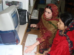 FESF Pakistan women computer training