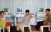 indonesia street kids computer