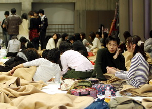JAPAN EARTHQUAKE SURVIVORS