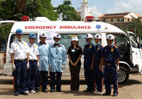 donated medical ambulance for cambodia SBSI