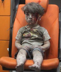5 year old Aleppo resident Omran Daqneesh