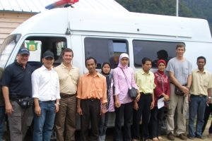 medical trip with Family Care ambulance lhoong aceh. Copyright Grant Montgomery 2008. Not to be republished.