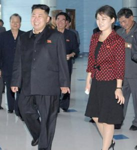 North Korea Kim Jong-un and wife Ri Sol-ju