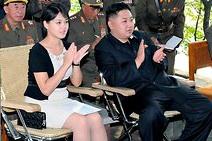 north korea Ri Sol Ju and Kim Jong Un