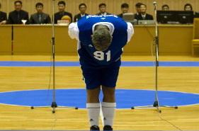 dennis rodman bows to Kim Jong Un